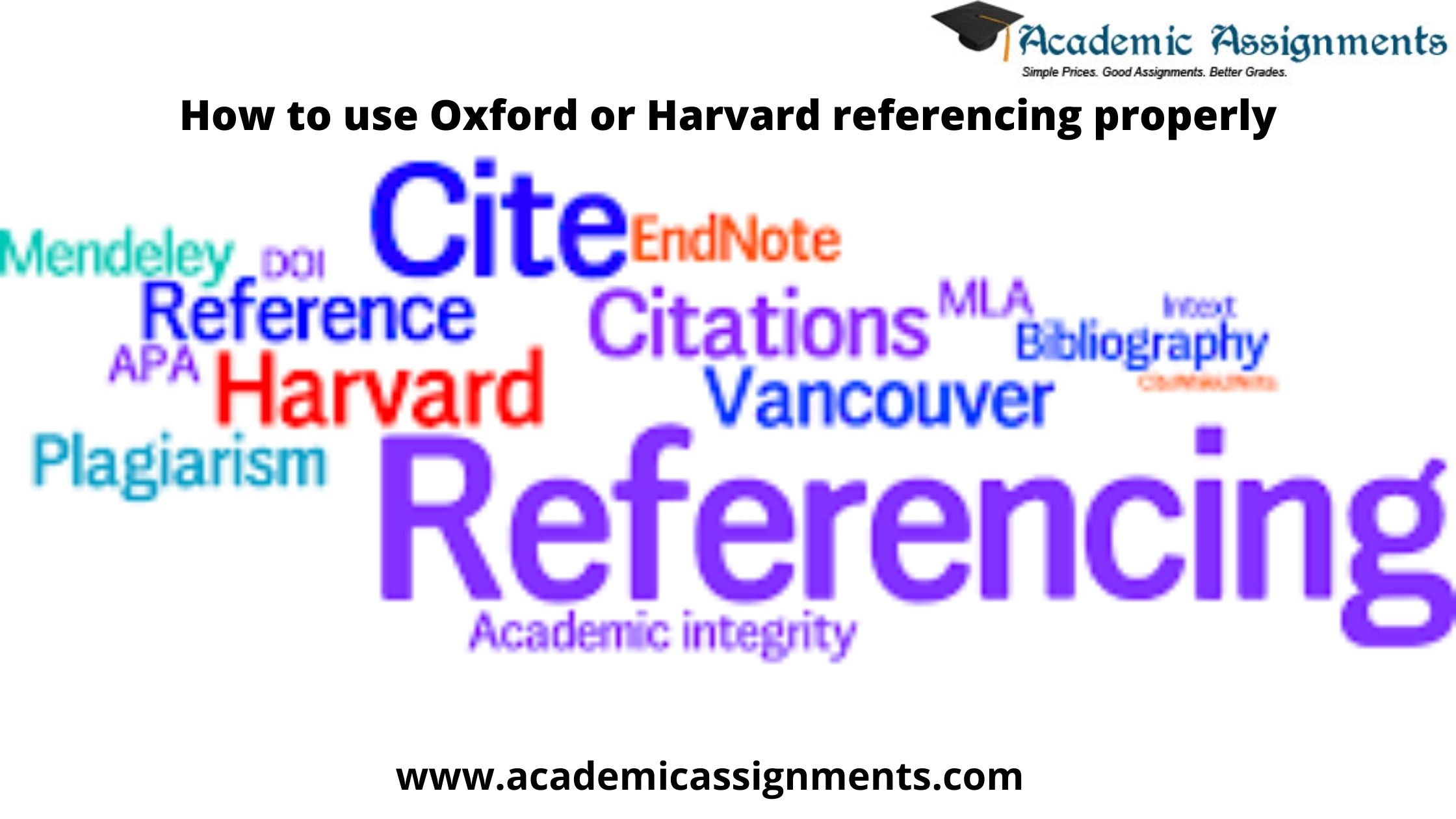 How to use Oxford or Harvard referencing properly
